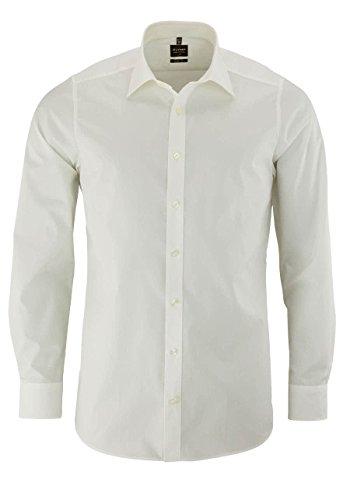 OLYMP OLYMP Level Five Body fit Hemd Langarm New Kent Kragen Stretch beige Größe 40