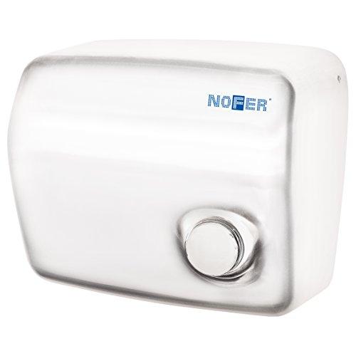 Nofer 01250.W Kai - Secador de Manos con botón pulsador Ino