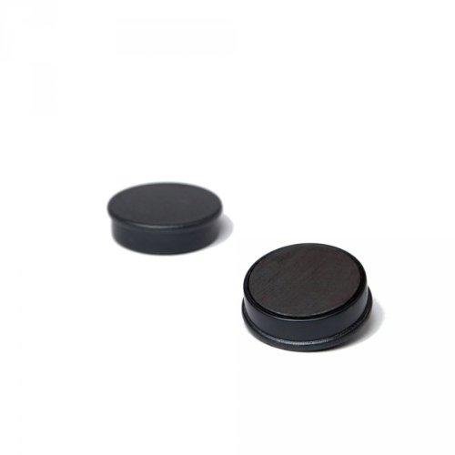 20 x Magnetpin 24x7 mm, Farbe: Schwarz, Dekomagnet für Pinnwand, Whiteboard, Magnetwand