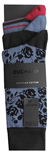 Duchamp London Herren Socken No Show Liner unsichtbar, 3er-Pack, Schwarz, UK 7-11, EU 41-46