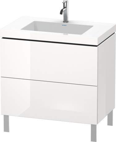 Duravit Duravit Waschtischunterbau L-CUBE mit Waschtisch Vero Air, 698 x 800 x 480 mm ohne Hahnloch weiß matt