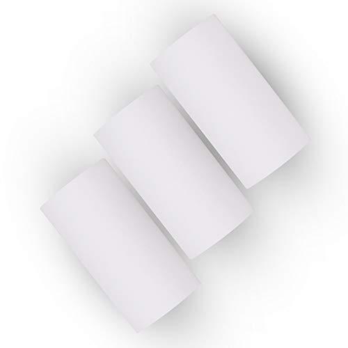 Leslaur Langlebige 10-Jahres-Aufbewahrung Hinweis Thermopapierrolle 56 * 30 mm/2,2 * 1,2 Zoll BPA-frei, schwarze Schrift Keine Aufkleber für PeriPage A6/A8/P6 Paperang P1/P2-Thermodrucker Packung mit