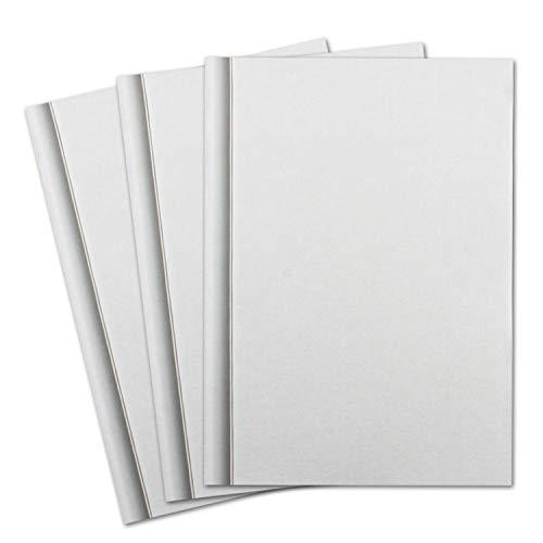 100 x papel de condolencia DIN A4 – con estructura de lino y borde sombreado – 297 x 210 mm – 100 g/m² – papel de condón imprimible para agradecimiento, invitación, indicador de tristeza
