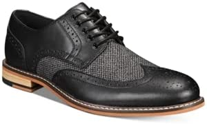 bar III Men's Fabian Wingtip Oxfords, Black Size 7.5