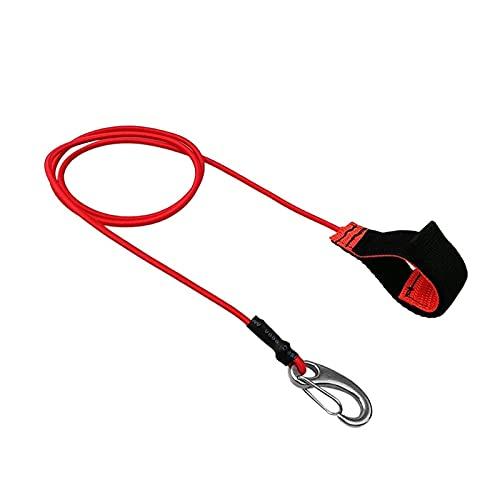 Cinturón para remo de kayak Estiramiento pesado Universal Kayak Canoa Canoa Paleta Correa Caña de pescar Bungee Caja de la cuerda Cuerda Mosquetón Accesorios de engranajes reparado ( Color : Red )