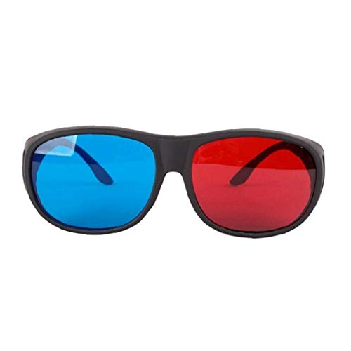 Red-Blue 3D Glasses Cyan Anaglyph Simple Style 3D Glasses Stereo Movie Game-Extra Upgrade Style for Men Women Convenient Tools