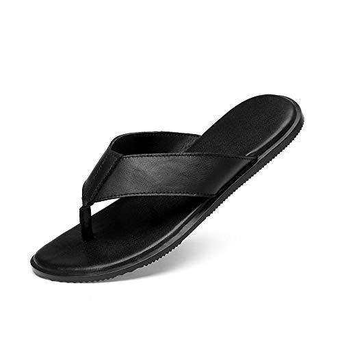 Yaunli - Sandalias para hombre, antideslizantes, para hombre, sandalias de verano, para playa, zapatos abiertos, zapatos de playa, pu, negro, 40