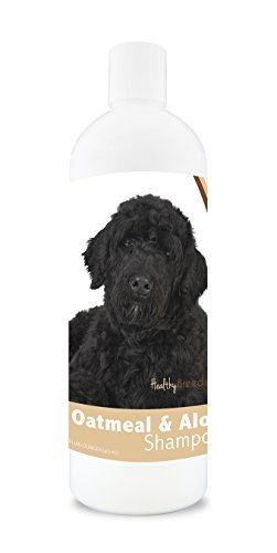 Healthy Breeds Dog Oatmeal Shampoo with Aloe for Portuguese Water Dog - Over 75 Breeds – 16 oz - Mild and Gentle for Itchy, Scaling, Sensitive Skin – Hypoallergenic Formula and pH Balanced