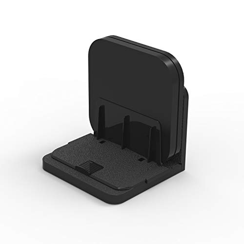 Router/Apple TV Box Wall Mount, WGOAL Adjustable Universal Small Device Wall Mount Holder Bracket for Cable Box Modems Streaming Media Devices Hard Driver Digital Media Players (Black)