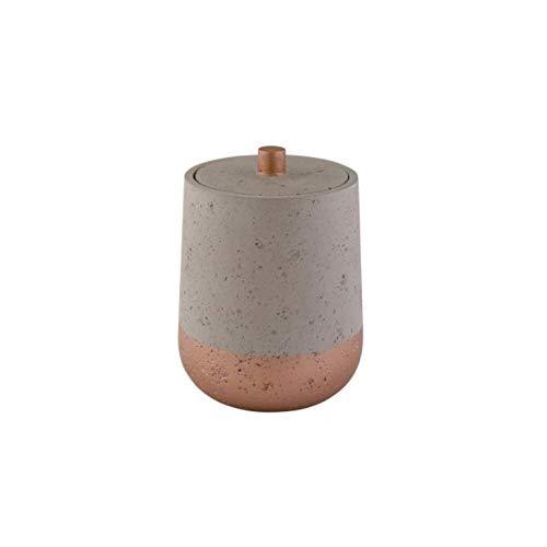 Seifenspender WC-Bürste Dose Toilettenbürste Aufbewahrungsdose Beton grau Kupfer (Aufbewahrungsdose)