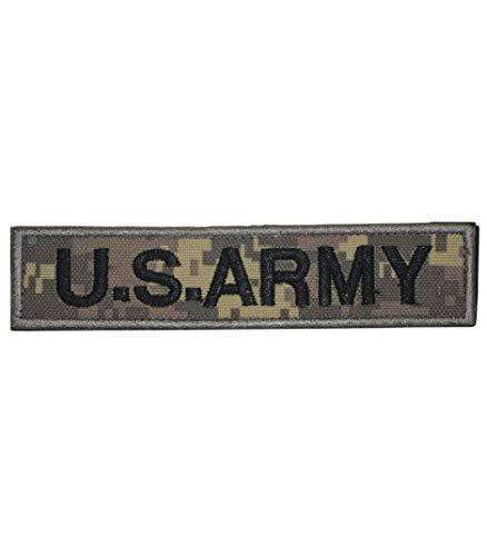 U.S. Army Digital Woodland Camo Parche bordado parche militar con cinta adherente para la bandera de Airsoft / Paintball