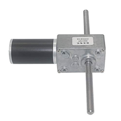12VDC Motor Eléctrico de Reducción Reversible Motor Reductor con Eje de Salida de Rosca Largo RPM 12/16 /27/40 /80/160 /260/470-16 rpm
