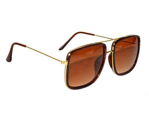 Peter Jones Brown Frame Brown Lenses Square Unisex Large Sunglasses (AS958BW)