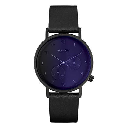Komono Herren-Uhren Analog Quarz One Size Leder 87384551