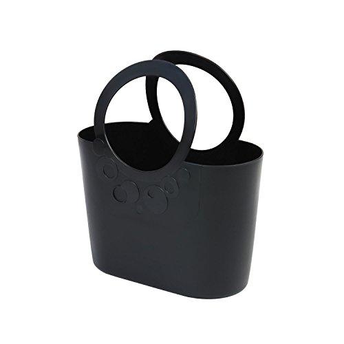 moderne Handtasche 6,4 L Picknickkorb schwarz Size L Griffe Lily Strandtasche Tasche Basket