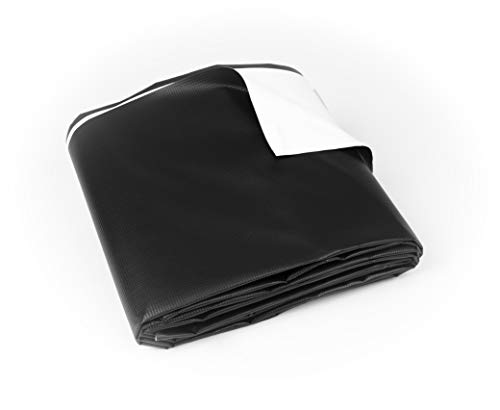 Vinyl Tarp 9 oz. Heavy Duty Black/White Waterproof (16' x 20')