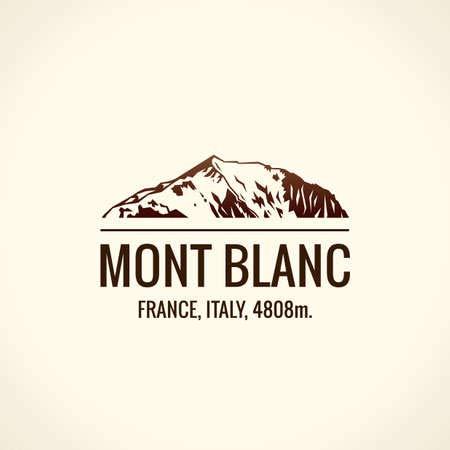 Leinwand-Bild 90 x 90 cm: Mountain Tourist Vector. Emblem Mount...