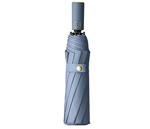 Faltbarer Regenschirm, automatisch, für Regen, Schnee und Sonne, winddicht, kompakt, mit UV-Schutz, Blau