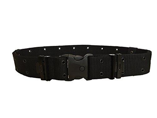 ALGI Cinturone Tattico H 5,50 cm con Fibbia di Sicurezza Nero (XXL/3XL)