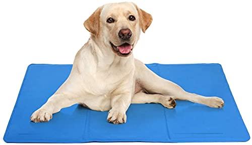 Alfombra Refrescante para Perro Alfombrilla de Refrigeración para Animales de Compañía Alfombrilla refrescante para Mascotas (Azul50*65CM)