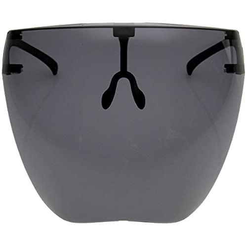 zeroUV - Protective Face Shield Full Cover Visor Glasses/Sunglasses (Anti-Fog / Blue Light Filter) (Smoke)