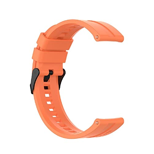 AniYY Correa de reloj de silicona de 20 mm con pasadores de liberación rápida, adecuada para correa de silicona y correa de repuesto para reloj Gt2
