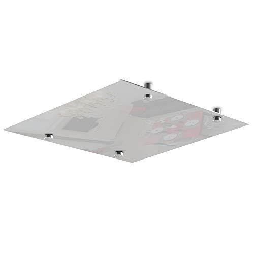 CalorSolar 342CaSol-TB | Calefactor de Panel infrarrojo en Cristal para Techo, Arizona Wave White Star de 380W 60x60cm (Blanco) | Cristal Templado