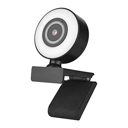 Camnoon 1080P Cámara Web de Alta definición USB Plug and Play con micrófono Incorporado Luz de Relleno para computadora portátil Computadora de Escritorio Video Conferencia Video Chat Transmisión