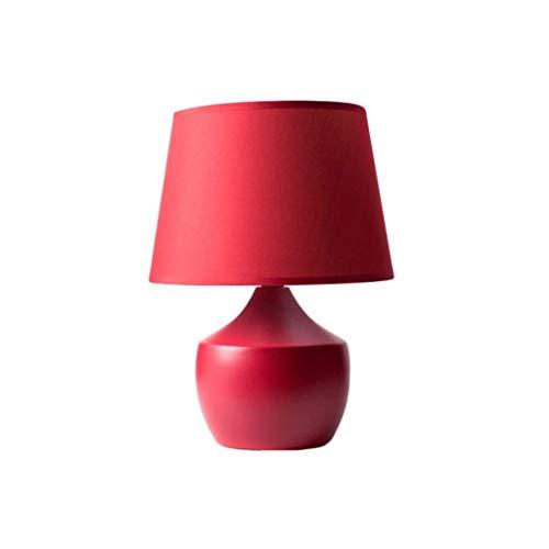 JJZXD LED de Lectura lámpara de Mesa nórdica roja Moderna de Escritorio Lámpara de cerámica de Estar Corredor cabecera de la habitación luz Creativa Mesa lámpara de Escritorio