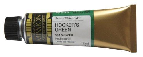 Mijello Mission Gold HOOKER'S GREEN (W535), 15ml Tube Künstler-Aquarellfarbe
