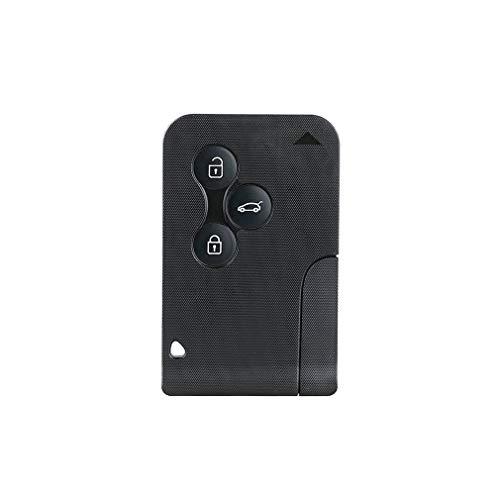 Tarjeta Inteligente de 3 Botones para Renault Clio Logan Megane 2 3 Koleos Scenic Card Case Negro