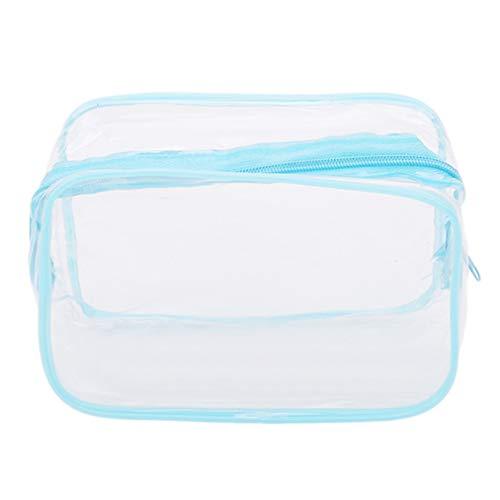 Sevenfly Sac Cosmétique De Stockage De Sac Cosmétique De Dames Imperméables Transparentes De Sac De Lavage Pour Le Voyage Extérieur (Petit Bleu)