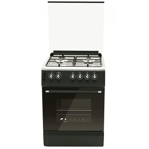 ALPHA Cocina de Gas VULCANO SILVER-60 Rustica. Encendido automático y temporizador en horno. **Alta Gama**