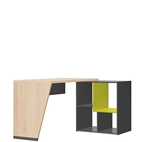 Schreibtisch mit Drehregal Wow, Eckschreibtisch