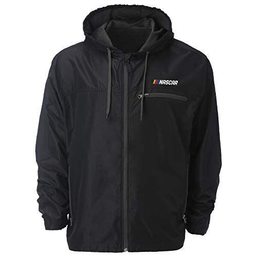 Ouray Sportswear NASCAR Herren Windjacke Venture, Herren, Venture Windbreaker Jacket, schwarz, XX-Large
