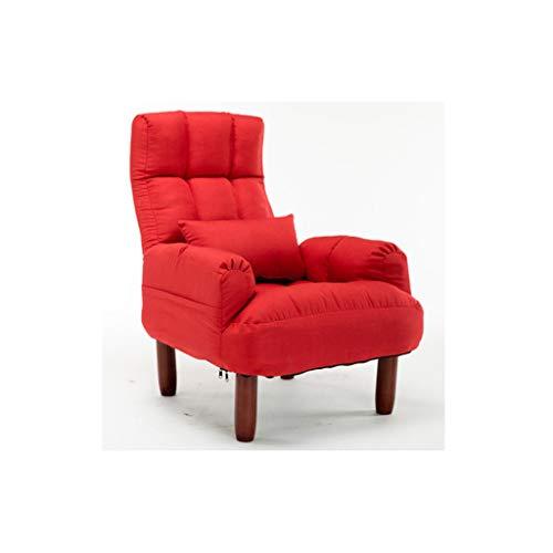 SFGH Divano divano a due posti comodo divano pieghevole reclinabile in tessuto (Color : Red)