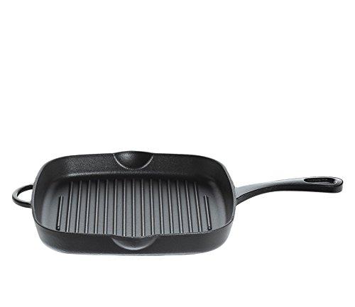 Küchenprofi Grillpfanne hoch in schwarz, Gusseisen, 26 cm