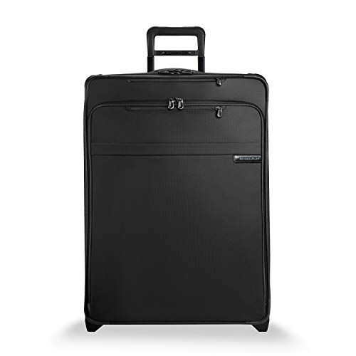Briggs & Riley Baseline-Softside CX Expandable Large Checked Upright Luggage Suitcase, Black, 28-Inch