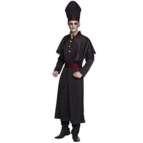 Boland 79104 Costume da sacerdote Scuro, Taglia 54/56, Nero.