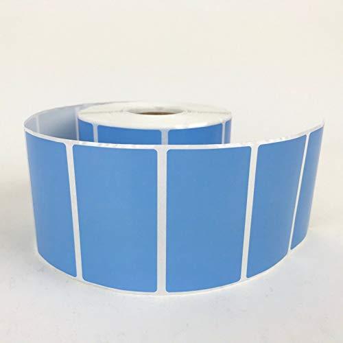 4Rollen 2,25x 1,25Thermodirekt Etiketten blau 1000Etiketten pro Rolle Zebra/Eltron Drucker kompatibel 2,5cm Core