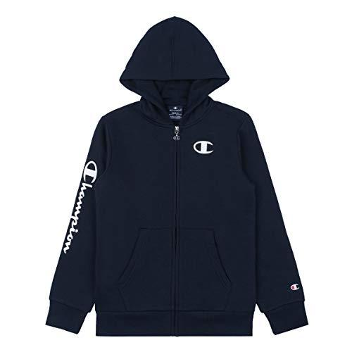 Champion Kinder Zip Hoodie Hooded Full Zip Sweatshirt 305359, Farbe:blau (NNY), Größe:L