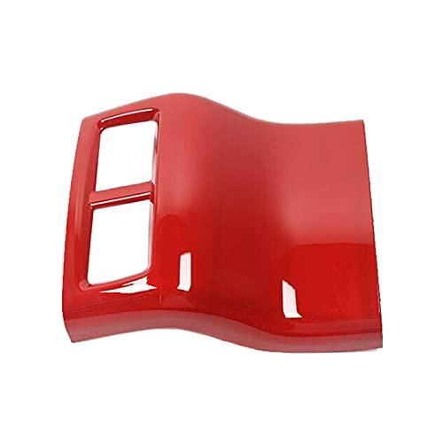 zhuzhu Adatta per Dodge Challenger 2015-2019 Accessori per Auto Addominali Coperchio del Pannello di Uscita dell'Aria del bracciolo Posteriore Rosso (Color Name : Red)