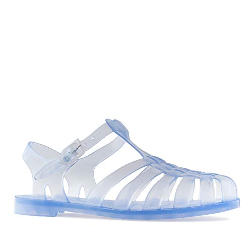 Andrés Machado - Unisex Badeschuhe in transparent für Damen, Herren und Kinder – Kunststoff Sandalen - AM188 –der Klassiker aus unseren Kindertagen - Transparent, EU 46