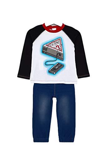 Guess set baby jongens T-shirt + broek I94g14, wit/blauw