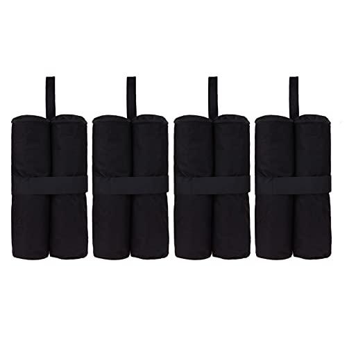 BOICXM 4 bolsas de peso para cenador, 15.7 pulgadas, pesadas, de doble costura, para cenadores, fiestas, trampolines, bolsa de pies con peso