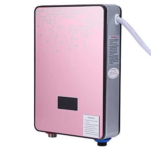 Mini Calentador De Agua Eléctrico Sin Tanque De 6.5 KW, Calentador De Agua Instantáneo Eléctrico Residencial A Pedido De 220 V, Para Baño, Caravana, Lavado De Cocina, Rosa