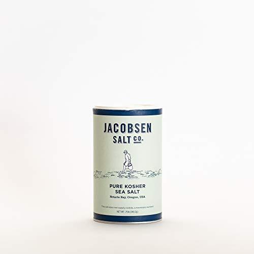 Jacobsen Salt Co. Kosher Sea Salt - Pure Flake Finishing Salt for Seasoning, Brining, Baking, and more