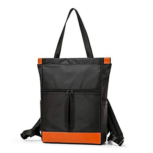 Fanspack Zaino donna multifunzione 2 in 1 borsa in nylon impermeabile grande borsa shopping bag per viaggi scolastici di lavoro casual