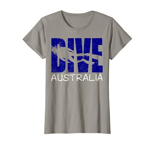 Mujer Buceo Australia Diversión Buceo Aventuras Para Mujeres Buzos Camiseta