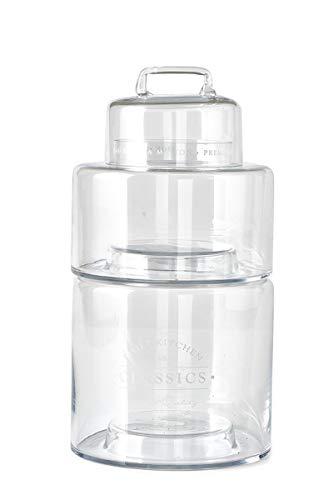 Riviera Maison - Kitchen Classics - Storage - Vorratsglas/Aufbewahrungsglas - 2 Etagen - Glas/Klar - Ø: 16cm x L: 32